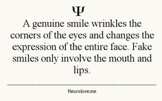 Characteristics of a real smile