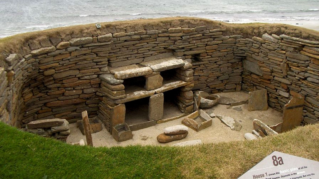 Stone dresser in the Orkney Islands