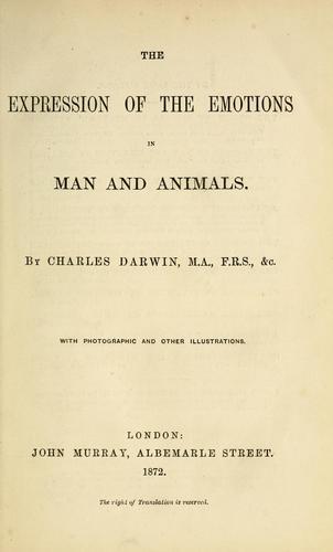 Charles Darwin an Emotion