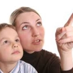 pointing with a child