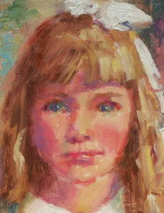 Painting of girl